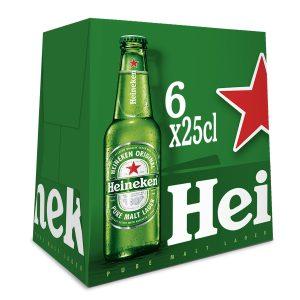 HEINEKEN 25 CL PACK 6 BOT 1